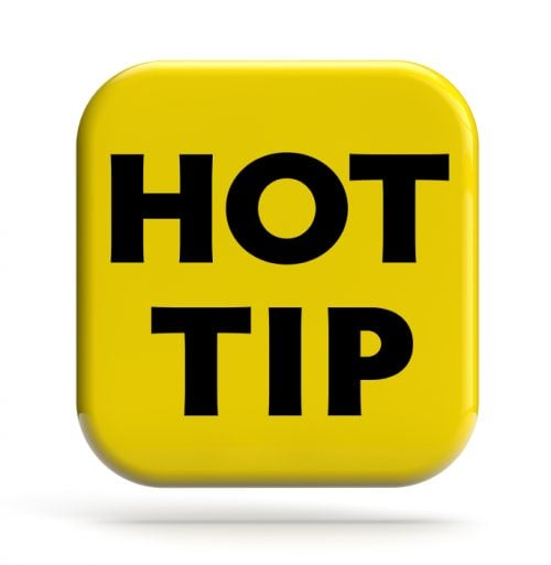 Hot Tip Sign Helpful Hints For Teaching in England e