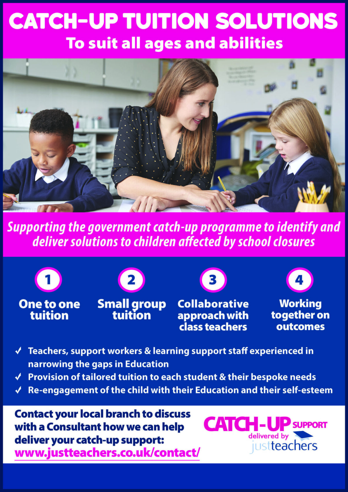 justteachers – catch up tuition solutions to narrow the gap